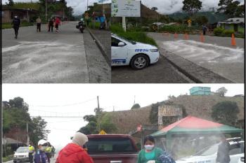 La Policía Nacional en coordinación con el GAD Parroquial Rural de Multitud
